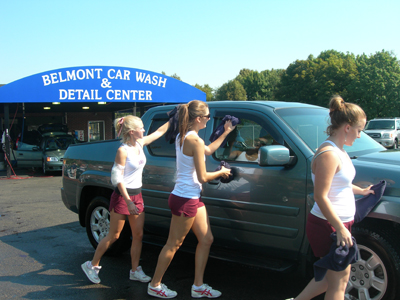 High School Cheerleaders Car Wash http://www.belmontcarwash.com/fundraising.html